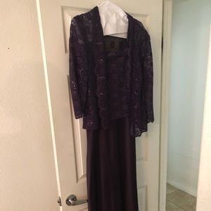 Eggplant Purple Mother of the Bride Dress